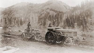 Road Grader Pulled By A Steel Wheeled Art Print
