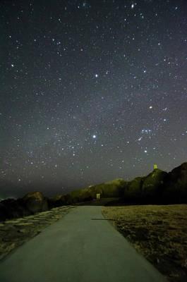 Star Field Photograph - Road by Noriakimasumoto