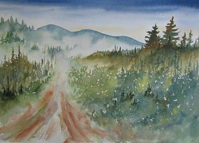 Road Through The Hills Art Print by Ramona Kraemer-Dobson