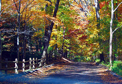 Road To Autumn Art Print