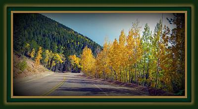 Art Print featuring the photograph Road To Fall by Michelle Frizzell-Thompson