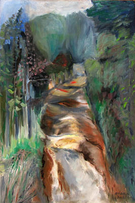 Road To Home Art Print by Susan Hanlon