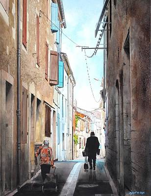 Road To Market In Gascony Art Print