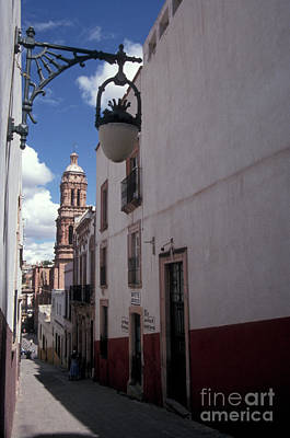 Art Print featuring the photograph Road To The Cathedral Zacatecas Mexico by John  Mitchell