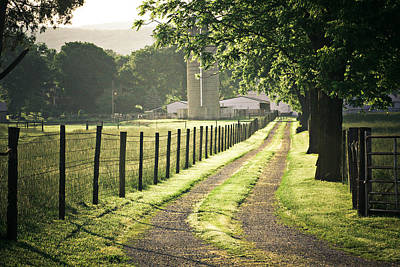 Road To The Farm Art Print