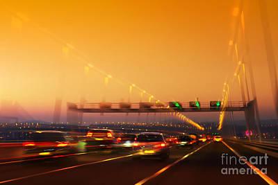 Luminous Tail Photograph - Road Traffic by Carlos Caetano
