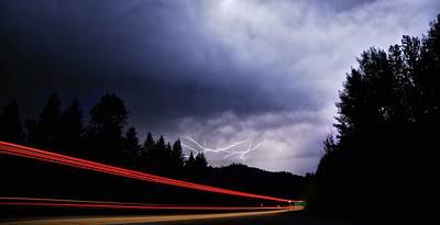 Lightning Photograph - Road Warrior by Don Mann