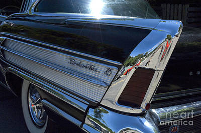 Roadmaster Tail Fin And Tail Light Print by Bob Christopher