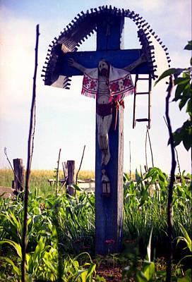 Roadside Crucifix IIi Print by Emanuel Tanjala