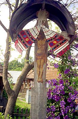 Roadside Crucifix V Print by Emanuel Tanjala