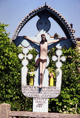 Photograph - Roadside Crucifix Vi by Emanuel Tanjala