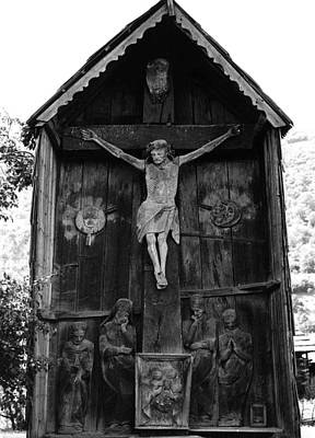 Photograph - Roadside Crucifix Viii by Emanuel Tanjala