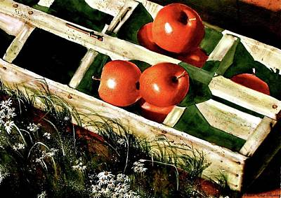 Painting - Roadside Farm Stand  by Susan Elise Shiebler