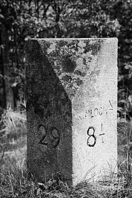 roadside milestone for kinloch and tyndrum in Scotland uk Print by Joe Fox