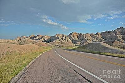 Photograph - Roadway Through The Badlands by Cassie Marie Photography