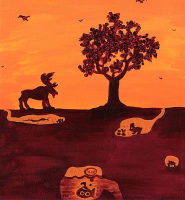 Roaming Moose Art Print