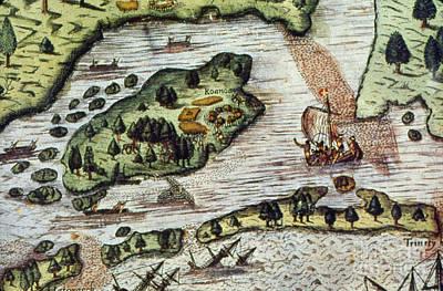 Roanoke Island, 1585 Print by Granger