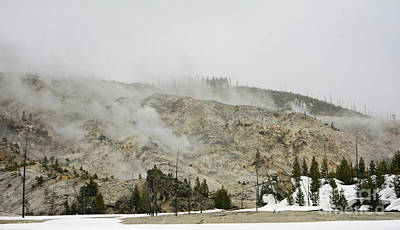 Roaring Mountain In Yellowstone Art Print by Charline Xia