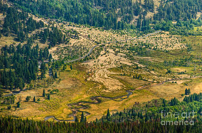 Photograph - Roaring River Alluvial Fan And Meandering Fall River by Harry Strharsky