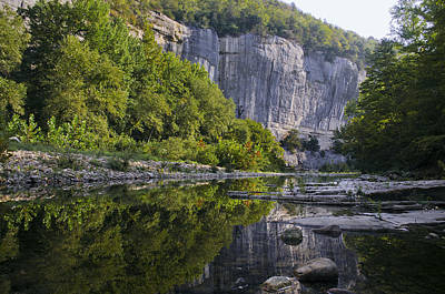 Jeka World Photograph - Roark Bluff Reflections Near Steel Creek Buffal National River by Jeff Rose