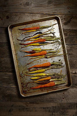 Y120817 Photograph - Roasted Carrots by Lew Robertson