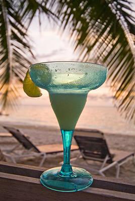 Roatans West Bay, Tropical Drink Art Print by Richard Nowitz