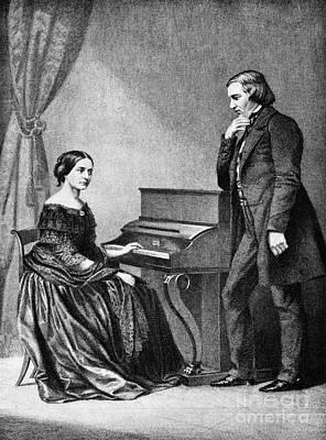Robert And Clara Schumann, German Print by Omikron