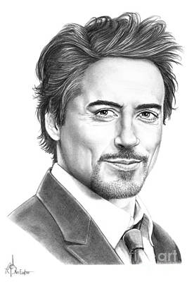 Robert Downey Jr Drawing Drawing - Robert Downey Jr. by Murphy Elliott