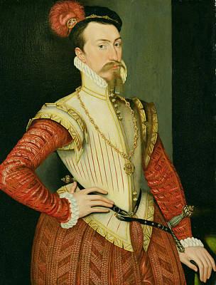 Ruff Painting - Robert Dudley - 1st Earl Of Leicester by Steven van der Meulen
