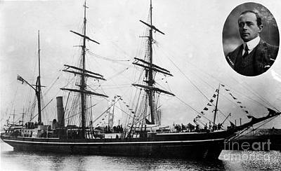Ill-fated Photograph - Robert Falcon Scott And His Exploration by Photo Researchers