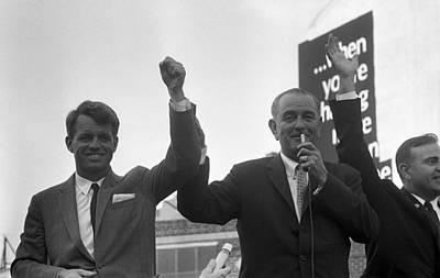 Lyndon Photograph - Robert Kennedy And President Lyndon by Everett