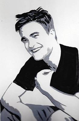 Robert Pattinson 1 Art Print by Audrey Pollitt