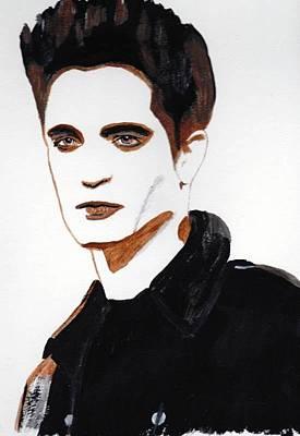 Art Print featuring the painting Robert Pattinson 15 by Audrey Pollitt