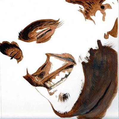 Art Print featuring the painting Robert Pattinson 16 by Audrey Pollitt