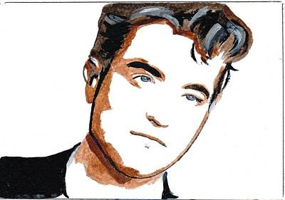 Robert Pattinson 22 Art Print by Audrey Pollitt