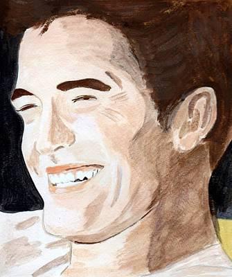 Art Print featuring the painting Robert Pattinson 8 by Audrey Pollitt