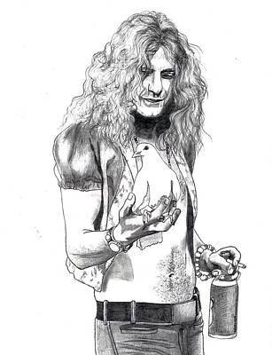 Robert Plant Drawing - Robert Plant by Anthony Warner