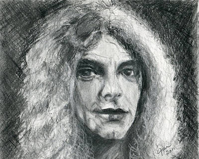 Robert Plant Drawing - Robert Plant by Gina Cordova