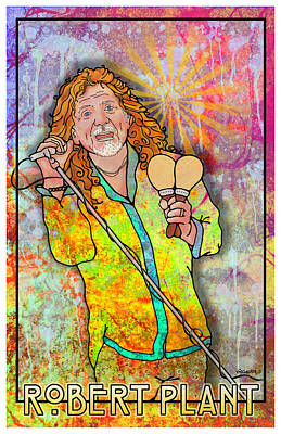 Robert Plant Digital Art - Robert Plant by John Goldacker