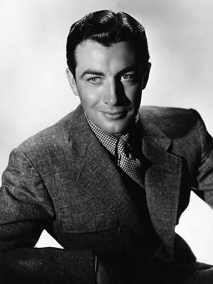 Robert Taylor, Mgm Portrait By Hurrell Art Print by Everett