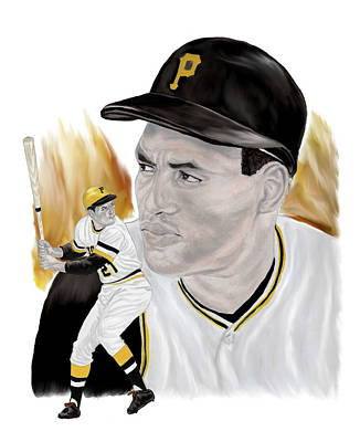 Roberto Clemente Painting - Roberto Clemente by Steve Ramer