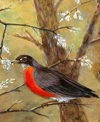 Painting - Robin by Gary Partin