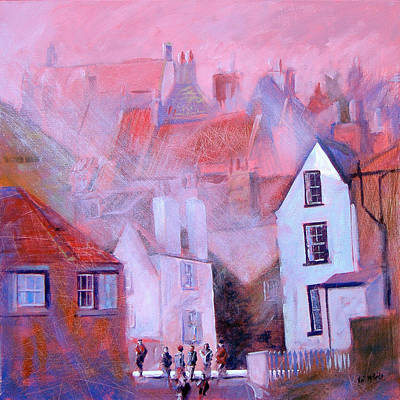 Painted Painting - Robin Hoods Bay Dock by Neil McBride