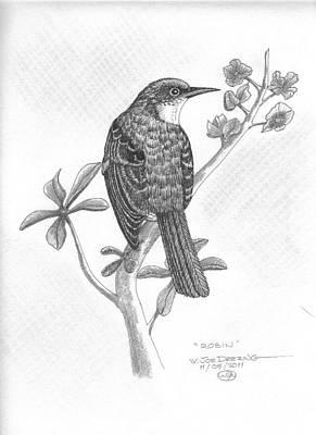 Robin Art Print by William Deering