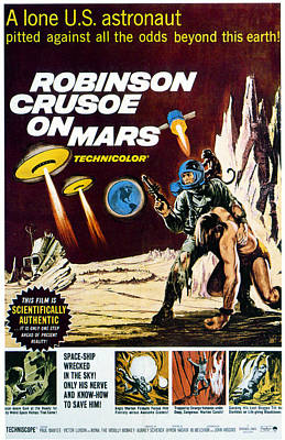 1964 Movies Photograph - Robinson Crusoe On Mars, 1964 by Everett