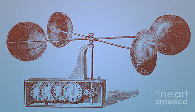 Anemometer Photograph - Robinsons Anemometer, 1846 by Photo Researchers