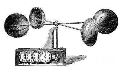 Anemometer Photograph - Robinsons Anemometer, 1846 by Science Source