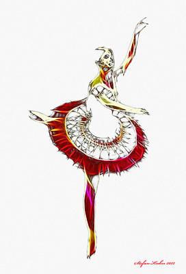 Robot Ballerina Art Print by Steve K
