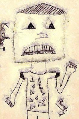 Robot Art Print by Odon Czintos