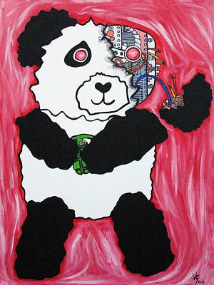 Red Panda Painting - Robot Panda by Jera Sky